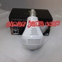 CAMERA CCTV IP WERLESS PANAROMA FISH EYE 360(BOLAM LAMPU)
