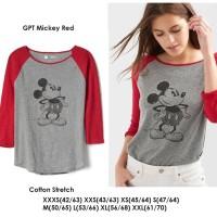 GAP DISNEY Mickey Red Tee - Kaos Baju Atasan Branded Murah