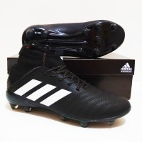 SEPATU BOLA Adidas PREDATOR Boots 18 FG Grade Ori (Black White)