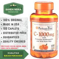 Puritan's Pride Vitamin C 100 Kaplet 1000 Mg Bioflavonoids & Rose Hip