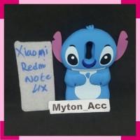 Custom Case Boneka Xiaomi Redmi Note 4X 4D Stitch Karakter Cuties Lucu