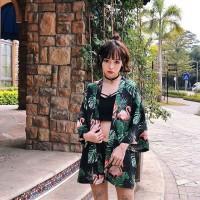 Kimono Black Flamingo Outer