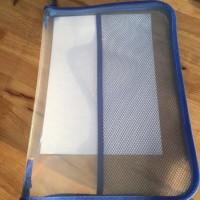 Diskon - Map Plastik Resleting Jaring Zipper Bag File F4 Tas Dokumen