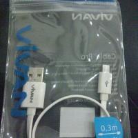 Kabel Powerbank Vivan Micro USB CM-30 CM 30 Kabel pipih Portable