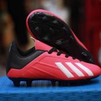 Sepatu Bola Adidas X 18 Kids / Anak-anak Merah list Putih Grade Ori
