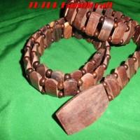Jual Produk Etnik Sabuk kayu galih asem oval sub TUTULHANDICRAFT