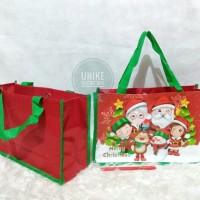 TOTE HAND BAG Tas Souvenir Natal Christmas Hamper Goodie Goody MURAH