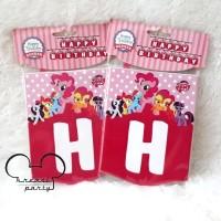 Banner HBD Little Pony/Bunting Flag Little Pony/Garland Little Pony