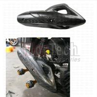 Cover Tutup Pelindung Knalpot variasi All New PCX 150 Motif Carbon