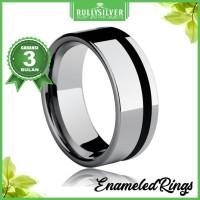 Promo Cincin Black Side Line Ring Terlaris
