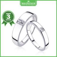 Promo Cincin Kawin Cube Solitaire Ring Elegan