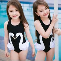 Baju Renang Angsa Putih Swan Swimsuit Bayi Anak Perempuan