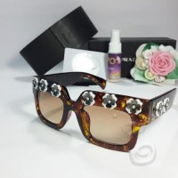 Paling Murah Kacamata Sunglass Prada Flower Premium Leopard 5210b941dd