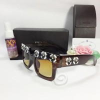Termurah Kacamata Sunglass Prada Flower Premium Coklat b46e8168a4