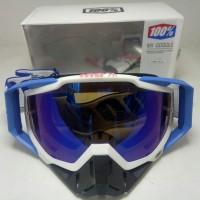 kacamata cross goggle 100% type cobalt blue kacamata trail