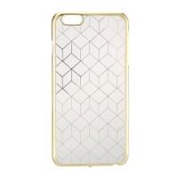 Casing hp iPhone 6 Plus Case Gold Geometric Clear Cover