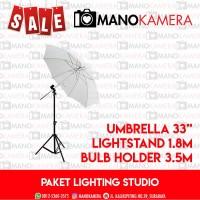 Paket Lighting Studio Youtube Video Lightstand Umbrella Bulb Holder