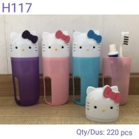 Gelas Tempat Sikat Gigi ODOL HK Hello kitty Travel Set Box H117 MANDI