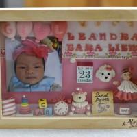 Baby Girl Frame Pink 3 dimensi / new born shadow box