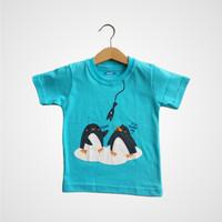 Parca Tee – Penguin Blue - kaos anak lakilaki/perempuan