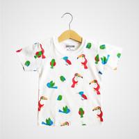 Parca Tee – Birds White - kaos anak laki laki/perempuan