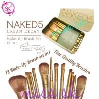 [ isi 12 kuas ] NA*KED 5 brush kaleng 12 in 1/Make up brush set