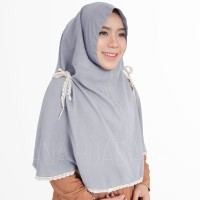 Zahra Renda Khimar Hijab instan Jilbab Instan Kerudung Khimar Hijab