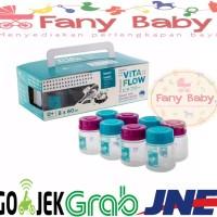 Vita Flow Breast Milk Storage Bottle 8 X 60ml / Botol Asi