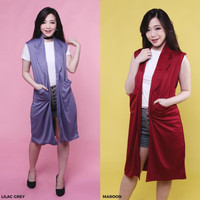 Harga flash sale long pocket vest rompi outer wanita | antitipu.com