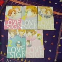 Komik LOVE SIGN 5 Buku Lengkap, kondisi Bagus Kolpri. Komik Cinta