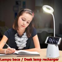 Lampu meja belajar LED DESKLAMP dengan tempat pensil