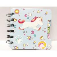 Agenda Notebook Buku Tulis Lucu Unicorn Biru B