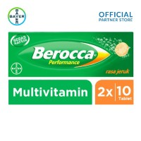 Harga berocca multivitamin b kompleks rasa jeruk 10 tablet x 2 unit twin   antitipu.com