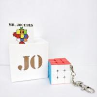 Jual Rubik 3x3 Jocubes keychain gantungan kunci stickerless