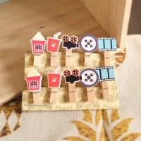 Wooden clip 1 set tali rami kayu penjepit foto dinding kertas