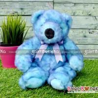 Boneka Teddy Bear Classic Biru ( HK - 603830 )