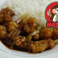 PopCorn Chicken Rice Teriyaki Warung Mas Tri