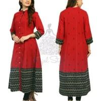 Kajal red black kurti dress india ori