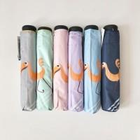 Payung lipat 3 flamingo / lapis hitam / anituv / GRC - 8378