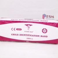 ID Band Child Pink / Gelang Identitas Pasien Anak Merah Muda - Cosmo