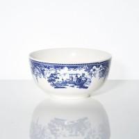 Mangkuk Keramik Johnson Motif Kastil Biru
