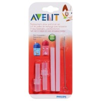 Jual PHILIPS AVENT Replacement Straw & Clean Brush Set Spare Straw Sedotan Murah