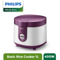 PHILIPS RICE COOKER 1L HD 3116 - PHILIPS MAGIC COM 1 LITER HD3116 UNGU