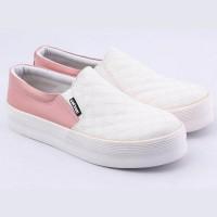sepatu pink putih - sepatu cantik - Sepatu casual wanita - mb dh 060