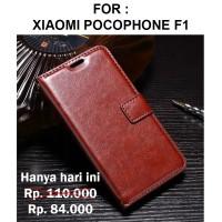 Case Xiaomi Pocophone F1 casing leather dompet kulit FLIP COVER WALLET