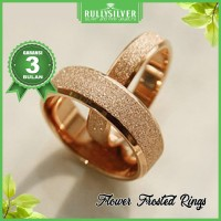 Promo Cincin Kawin Gold Flower Frosted ring