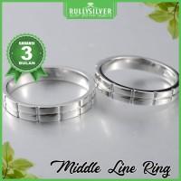 Promo Cincin Kawin Line Couple Silver Ring