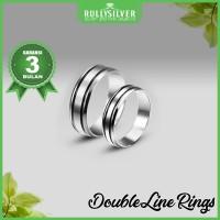 Promo Cincin Kawin Perak Double Line Ring