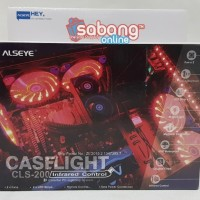 FAN CASING ALSEYE CASE LIGHT CLS 200 12CM / KIPAS CASING CPU