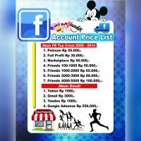 Akun Fb/facebook tua creat 2009-2014